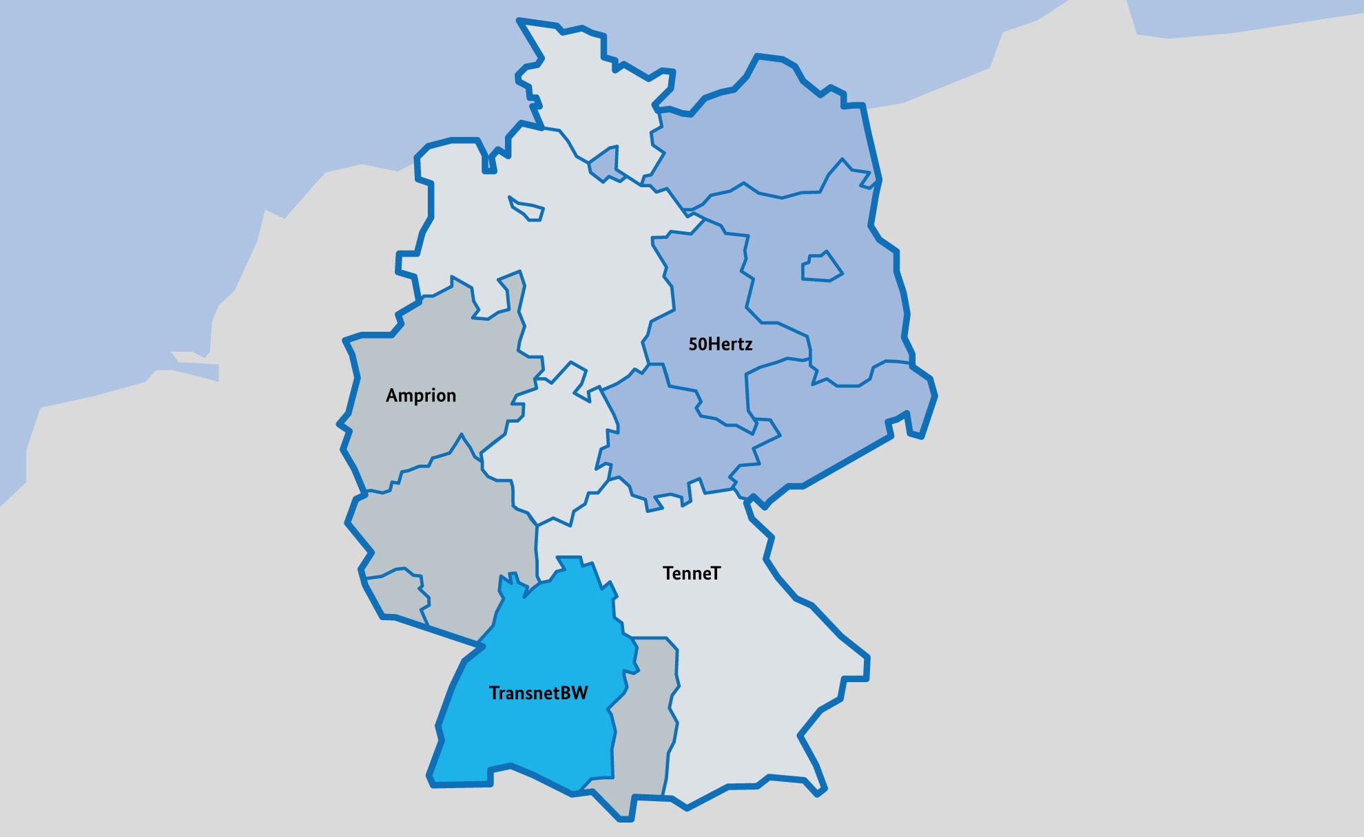 SMARD Strommarktdaten - Die vier deutschen Regelzonen